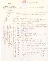 FACTURE - CHIFFONS ET METAUX DREYFUS -VESOUL-  1870- AFFRANCHIE N° 29 OBLIT. GROS CHIFFRES 4169 - France