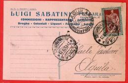 PESCARA- TESTATINA COMMERCIALE- LIQUORI COLONIALI-SABATINI 1928 - Pescara
