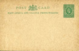Entier Postal Carte East Africa And Uganda Protectorates 3c Vert Superbe - Kenya, Uganda & Tanganyika