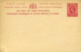 Entier Postal Carte East Africa And Uganda Protectorates 6c Rouge  Superbe - Kenya, Uganda & Tanganyika
