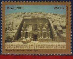 Ref. BR-V2010-23 BRAZIL 2010 - JOINT ISSUES - EGYPT - NUBIAN MONUMENTS ARCHAEOLOGY, ART, SCULTURE, MINT MNH 1V