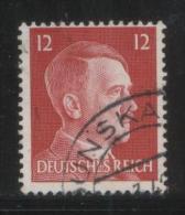 POLAND GERMANY THIRD REICH 12PF HITLER TYPE 2 USED ZDUNSKA WOLA - 1939-44: World War Two