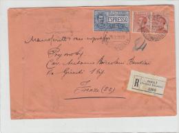 Forli Per Firenze. Racc.. 60+60+1.25 Anno 1928 - 1900-44 Vittorio Emanuele III