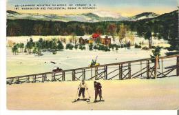 281 - Cranmore Mountain Ski-Mobile, North Conway, New Hampshire Mount Washington And Presidential Range In Distance - White Mountains