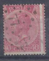 N°20A GESTEMPELD L77 CHARLEROI ZM/TB/VF USED € 22.00 SUPERBE - 1865-1866 Linksprofil