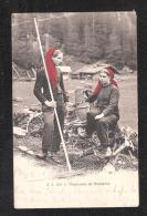 Suisse PAYSANNES DE CHAMPERY Ansichtskarten Schweiz - VS Valais