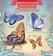 UGN13112b Uganda 2013 Butterflies s/s