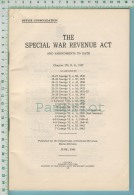 WWII  ( The Special War Revenue Act And Amendments To Date  1943 ) 2 Scan - Documents