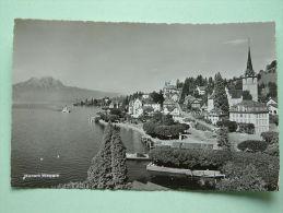 Weggis Mit Pilatus / Anno 1955 ( Hotel ALBANA Weggis ) - ( Zie Foto Voor Détails ) !! - LU Lucerne