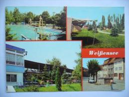 Germany: Weißensee (Kr. Sömmerda) - Schwimmbad Campingplatz Terrassencafé Markt - 1980's Unused - Weissensee