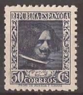 ES738-LA078.España.Spain. CIFRA  Y  PERSONAJES.Pintor.Diego VELAZQUEZ.1936/38 (Ed 738**) Sin Charnela,. MAGNIFICA - 1889-1931 Reino: Alfonso XIII