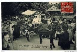 Paris Buttes Chaumont Voiture à Ane Enfants 1912 état Superbe TOP - Parcs, Jardins