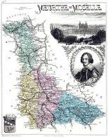 Carte De La Meurthe-et-Moselle 1883 - Gravée En Taille Douce - Grand Format - FRAIS DE PORT OFFERT POUR LA FRANCE - Estampas & Grabados