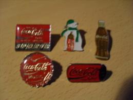 Lot 5 Pin's Coca Cola - Coca-Cola