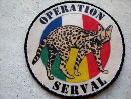 INSIGNE TISSUS PATCH OPEX MALI OPERATION SERVAL SUR VELCRO ETAT EXCELLENT (VARIANTE ZONE DESERTIQUE)