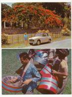 Lot Of 7 Cards Flamboyant Deutsch Car Steel Band Balandra Mayaro - Trinidad