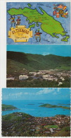 St Thomas US Virgin Islands Lot Of 3 Cards Map  Bluebeards Castle Hotel Charlotte Amalie - Vierges (Iles), Amér.