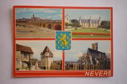 Nevers ( 58 ) Le Pont Sur La Loire - Le Palais Ducal - La Porte Du Croux - La Cathedrale Saint Cyr - Nevers