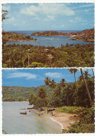 Grenada 2 Cards Yacht Basin St Georges Fishing Fontenoy Beach - Grenada