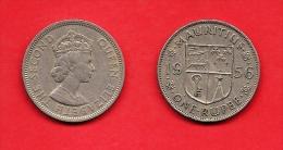 MAURITIUS , 1956-1978, Circulated Coin, 1 Rupee, QEII, Copper Nickel, Km35.1, C1611 - Mauritius