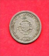 GUINE (Portugees) , 1952, Circulated Coin, 2,5 Escudos, Copper Nickel, Km9, C1614 - Munten