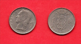 BELGIUM , 1950-1988, Circulated Coin,1 Franc French, Km 142.1, C1619 - 1951-1993: Baudouin I