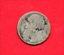 BELGIUM , 1901 Circulated Coin, 50 Centimes, LeopoldII Zinc, Km50,, C1631 - 1865-1909: Leopold II