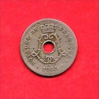 BELGIUM , 1905, Circulated Coin, 5 Centimes, Leopold II Zinc, Km54, C1632 - 1865-1909: Leopold II