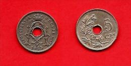 BELGIUM , 1910-1931, Circulated Coin, 5 Centimes, Dutch, Km67, C1635 - 1909-1934: Albert I