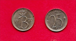 BELGIUM , 1964-75, Circulated Coin, 25 Centimesc, French, Km153.1, C1645 - 1951-1993: Baudouin I