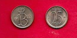 BELGIUM , 1964-75, Circulated Coin, 25 Centimesc, Dutch, Km154.1, C1646 - 1951-1993: Baudouin I