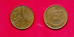 BELGIUM , 1986-1993, Circulated Coin, 5 Franc, French, Km163, C1649 - 1951-1993: Baudouin I
