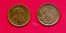 BELGIUM , 1980-1993, Circulated Coin, 20 Franc, Dutch, Km160, C1652 - 1951-1993: Baudouin I