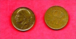BELGIUM , 1955-1998, Circulated Coin, 50 Centimes, French, Km148.1, C1654 - 1951-1993: Baudouin I