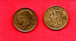 BELGIUM , 1955-1998, Circulated Coin, 50 Centimes, Dutch, Km148.2, C1655 - 1951-1993: Baudouin I