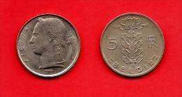 BELGIUM , 1948-1981, Circulated Coin, 5 Franc,Dutch, Km134.2, C1657 - 1951-1993: Baudouin I