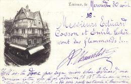 LISIEUX, Precurseur, Carte Retour à L´envoyeur En 1899, Cachets Allemands Tres Interessants - Lisieux