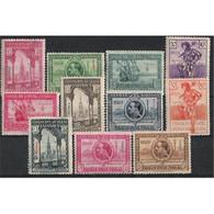 ES434-L1613TANMO.Spain Espagne.Lote EXPOSICIONES DE SEVILLA Y BARCELONA 1929.(Ed 434/47*) Con Charnela MUY BONITA - Sellos