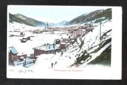 DAVOS GEGEN DAS TINZENHORN DOS SIMPLE Oblitération  DAVOS DORF 1902 POSTMARK Switzerland - GR Grisons