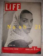 Revue ´ LIFE ´ Du  08 Janvier 1945 - 51 Pages En Anglais - - Forces Armées Américaines