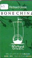 Télécarte Japon * RICHARD GINORI  * CHINA (67) CHINA RELATED PHONECARD * TELEFONKARTE - Chine