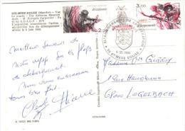 GUE-L84 - FRANCE 40e Anniv. De La Libération De Sainte-Mère-L'Eglise 1944/84 Avec Tryptique Résistance - Débarquements - Erinnophilie
