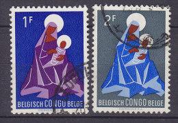 Belgium Congo 1959 Mi. 356-57 Weihnachten Christmas Jul Noel Natale Navidad Maria Madonna Mit Kind - Congo Belge
