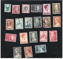 GRECIA (GREECE) - 1955 / 1957 LOT OF 20 DIFFERENT STAMPS - USED ° - Usati