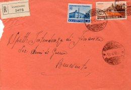"""1954 STORIA POSTALE TURISTICA """"GARDONE""""LIRE 20+XXV ANNIVERSARIO PATTI LATERANENSI DA SASSIROLO(BENEVENTO) --R359 - 1946-60: Storia Postale"""