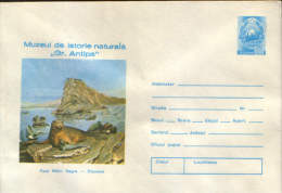 "Romania(292)-Stationery Cover 1974,unused-Natural History Museum ""Gr.Antipa"",Foca Black Sea - Entiers Postaux"