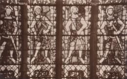 POSTCARD 1930 CA. TEWKESBURY ABBEY NEW CHOIR WINDOW - England