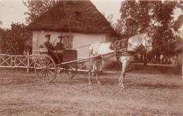 Photocarte Allemande- Militaires Allemands Dans Cariole-Res.-Fussarti.- Regt. Nr.4- 1917(guerre14-18)2scans Lire+bas - Guerre 1914-18