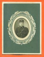 """Ferrotype """"  Militaire 114° Regiment  """" - Guerra, Militari"""