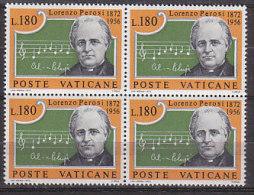 PGL BT138 - VATICANO SASSONE N°533 ** QUARTINE - Vatican